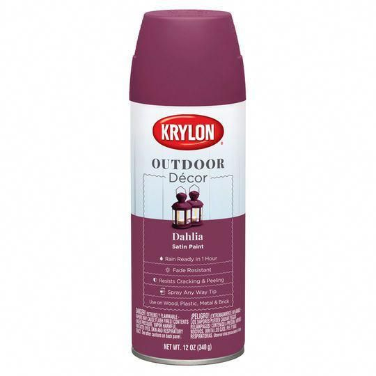 Krylon Outdoor Decor Satin Paint in #outdoordecor Outdoor