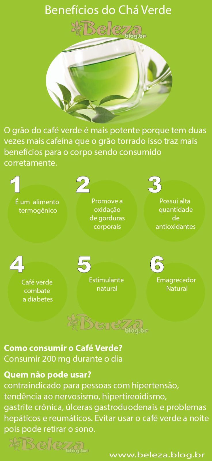 Beneficios do Chá Verde