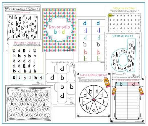 b and d reversals. Letter reversals and handwriting games, worksheets, and resources. www.toolstogrowot.com