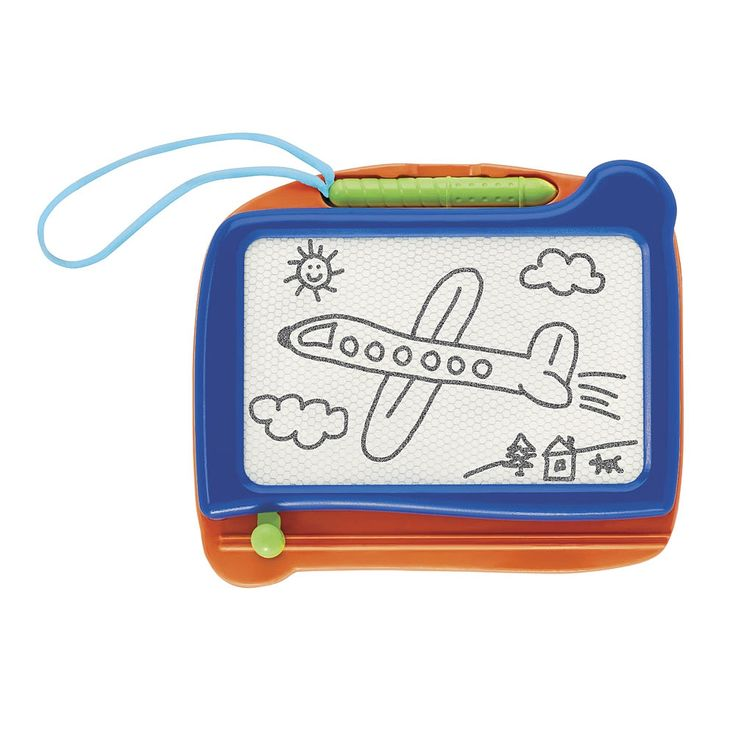 Your little artist can now draw on-the-go with the Imaginarium Travel Magnetic Drawing Board. Everything they love about the classic magnetic drawing board, now in a travel size! It come with a magnetic drawing pen and has an easy to use slide to erase. For ages 3 and up.<BR><BR>The Imaginarium Travel Magnetic Drawing Board Features:<BR>Draw or write with the magnetic drawing pen<BR>Slide the eraser knob across to erase and to restart
