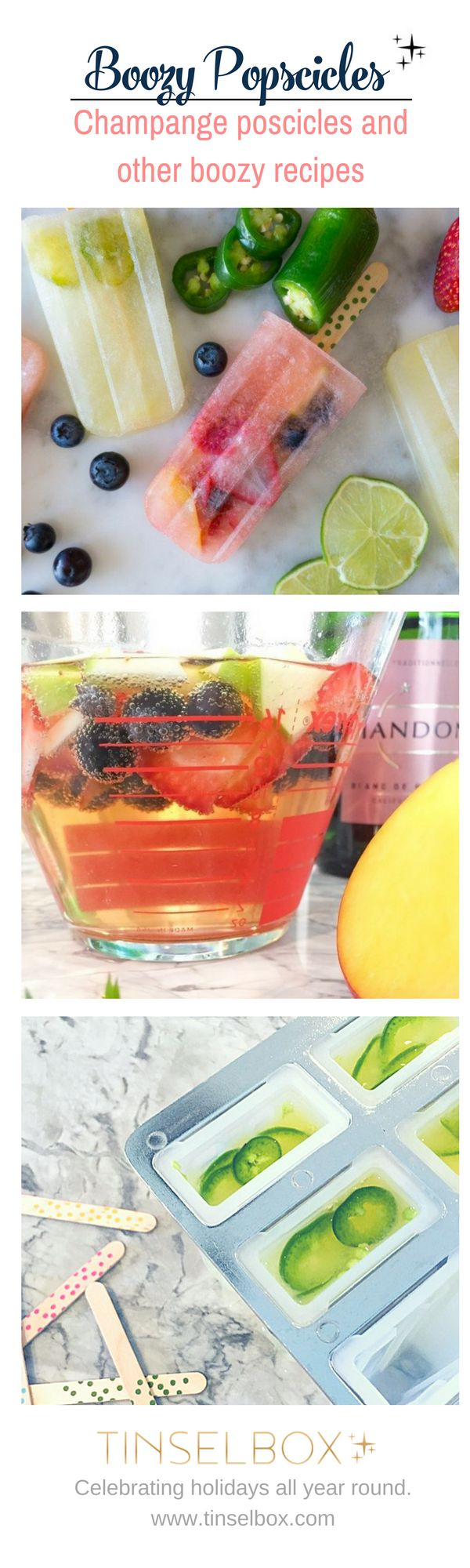 Nothing rings in the summertime like champagne popsicles and other fun boozy recipes, so I'm here to give you some yummy adult recipes for these refreshing treats! Who doesn't LOVE…