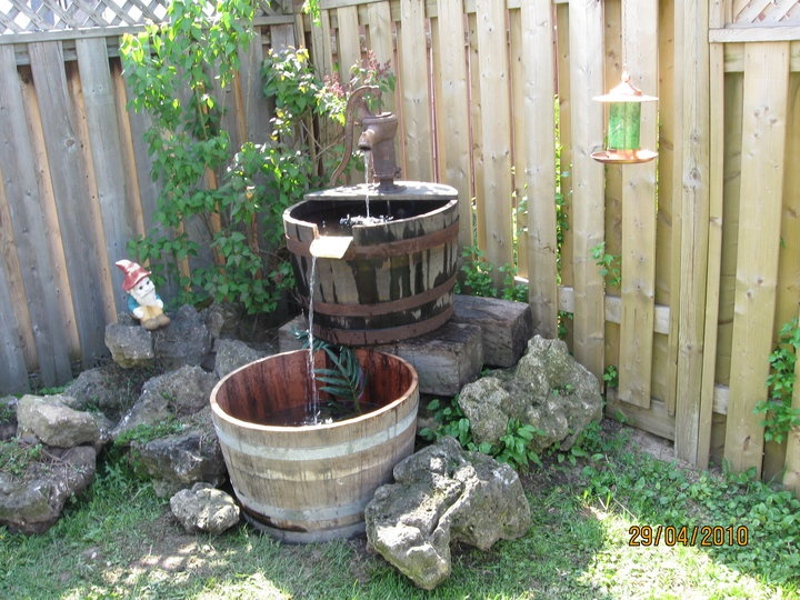 32 Best Wine Barrel Ponds Images On Pinterest Backyard