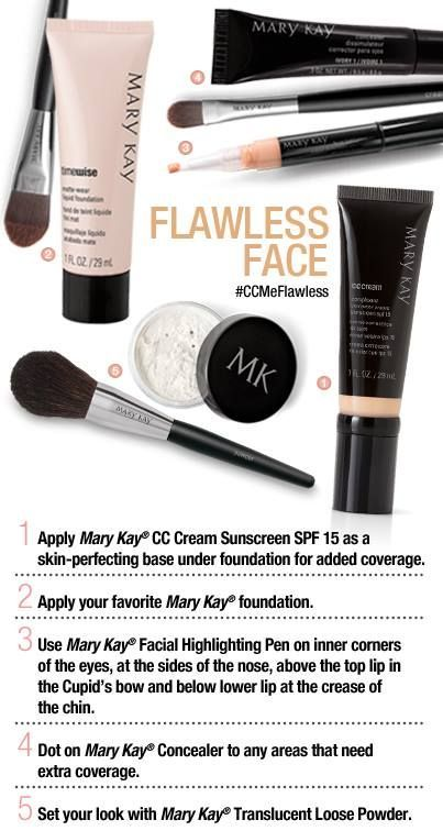 A Flawless Face in 5 minutes! Call/msg/visit me and I can help (530)923-8366 cristi.hartman@marykay.com www.marykay.com/cristi.hartman
