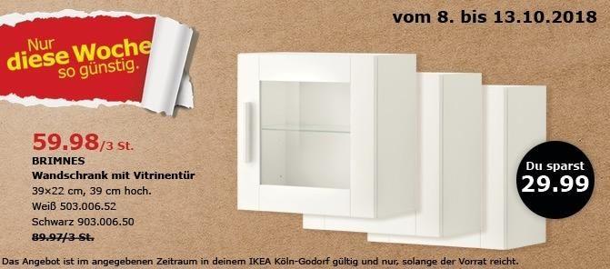 Ikea Koln Godorf Brimnes Wandschrank Mit Vitrinentur 3 St