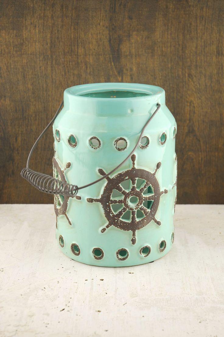 Neely Nautical Lantern Blue 9in
