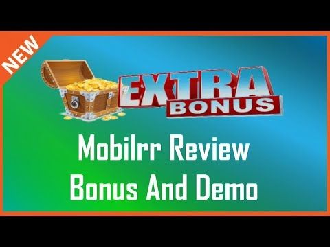 Mobilrr Review   Demo And Mobilrr Bonus - YouTube