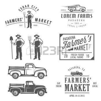 truck farm: Vintage farming labels, badges and design elements | farm ...: pinterest.com/pin/78039006021667916