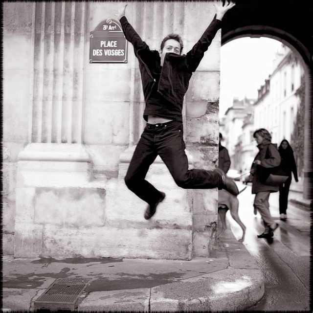 This photo of Joe Strummer represents the freedom to break the mold. Happy Angry Punk in Paris
