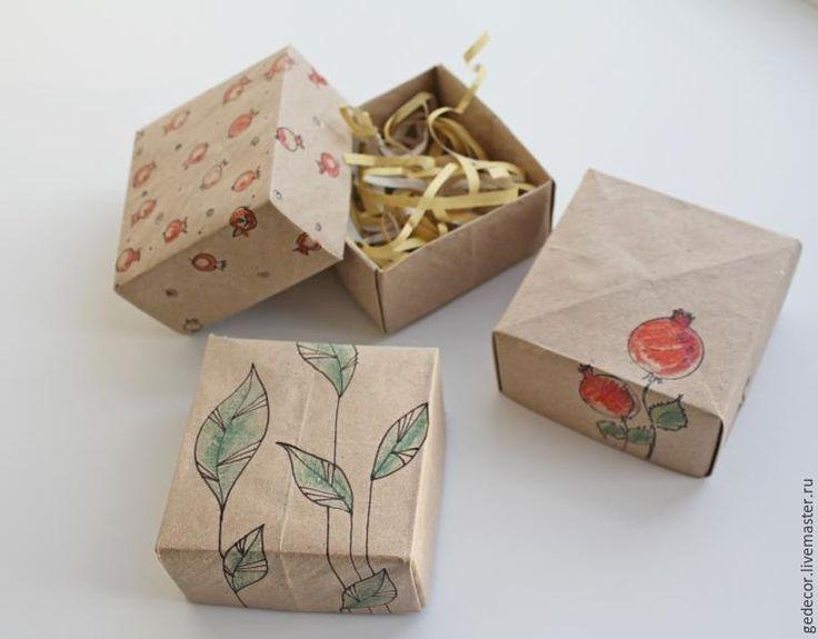 Как за 15 минут сделать коробочку из крафт-бумаги в технике оригами