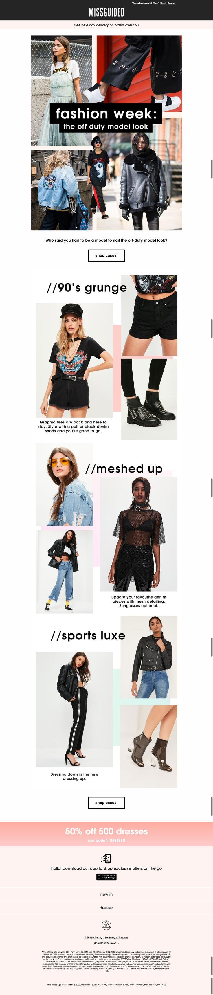 miss guided fashion week email
