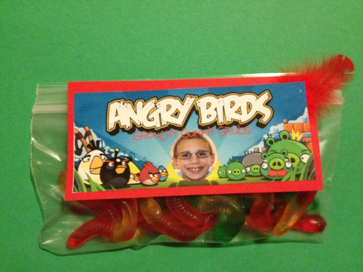 Angry Birds Grouchy Gummy Grubs - party favors.