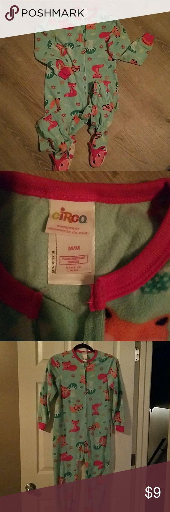 Circo Pajamas Girls Circo Fox Print Pajamas  Size M Circo Pajamas Pajama Sets
