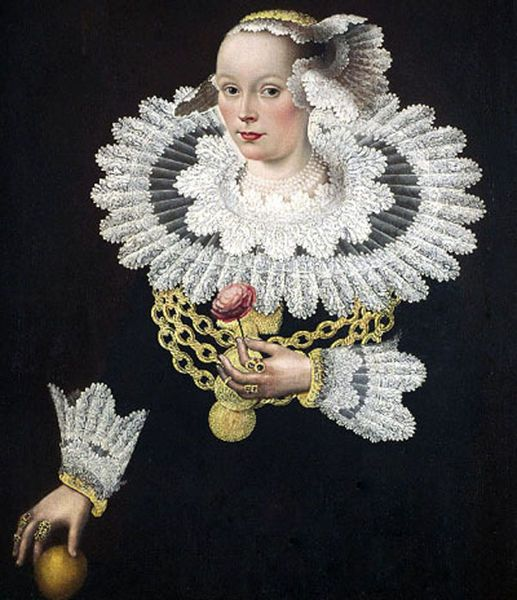 Portrait of Anna Rosina Tanck, wife of the Mayor of Lübecker by Michael Conrad Hirt (1613-1671) Via