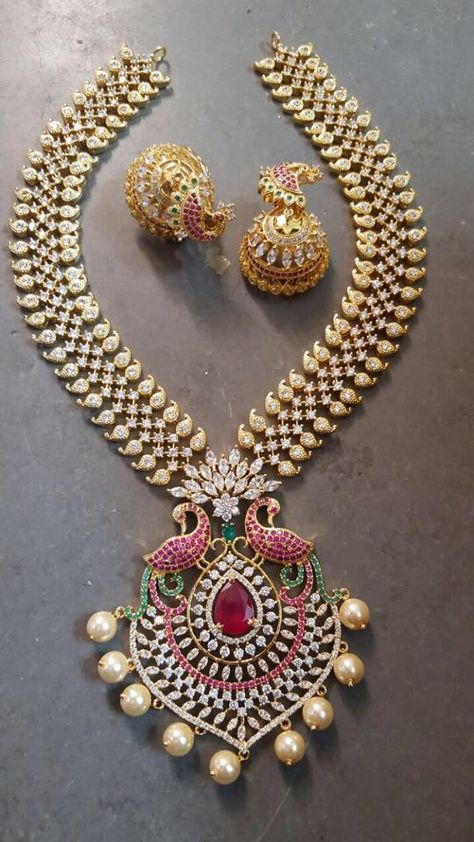 1 Gram Gold Heavy Jewelry Available - Jewellery Designs