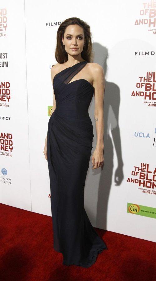 Nice Angelina Jolie Black Dress 2017-2018