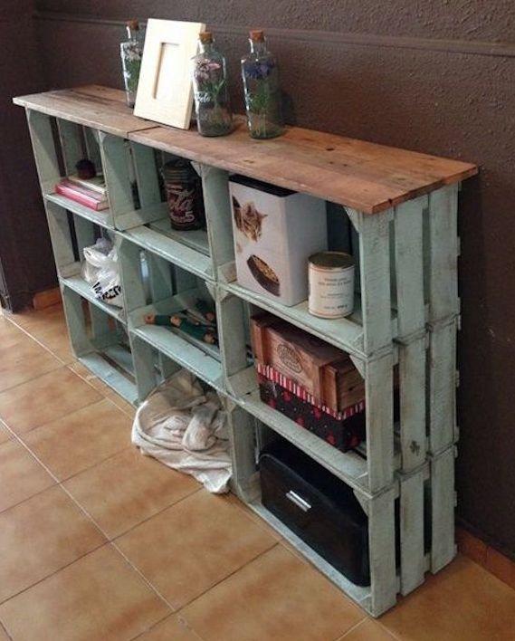 caisse en bois deco etagere vieilles caisses en bois caissette vin cagette pommes