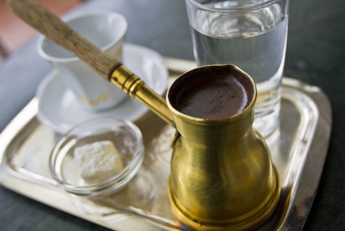 Turkish coffee & lokum