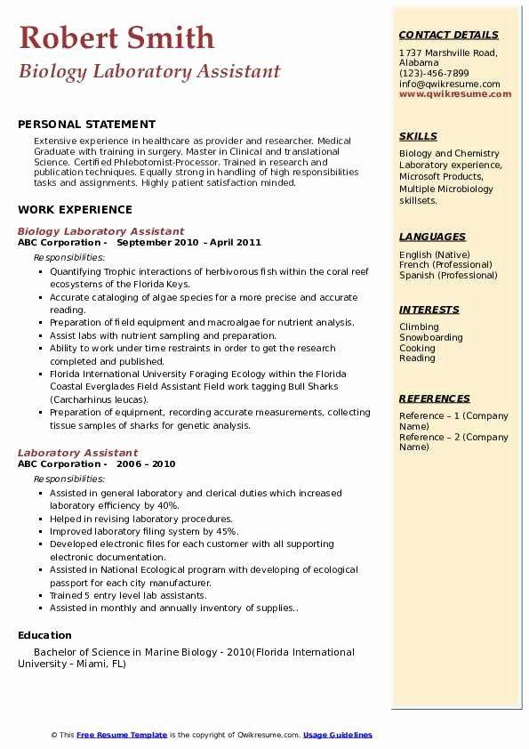 Research Assistant Resume Description Best Of Laboratory Assistant Resume Samples Assistant Jobs Research Assistant Job Description