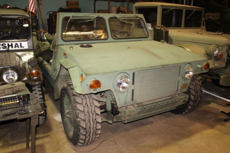 """This rare """"Humvee"""" prototype was submitted for testing to the Army by the Teledyne Continental Company. The design of this vehicle was done by Lamborghini who continue to make some commercial versions of it after providing this prototype (under contract) to Teledyne Continental. The engine is a diesel V-8 made by International Harvester, the transmission is a General Motors Turbo Hydromatic 400, and it has torsion bar suspension."""