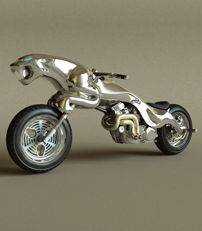 Turns out there is actually something better than stealing the Bat-Pod (Concept motorcycle based on Jaguar Logo)