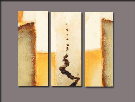 Tr ptico pintura moderna tu decoraci n ganar en estilo y for Cuadros abstractos baratos