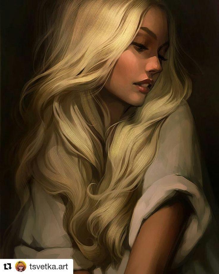 Blonde girl by @tsvetka.art