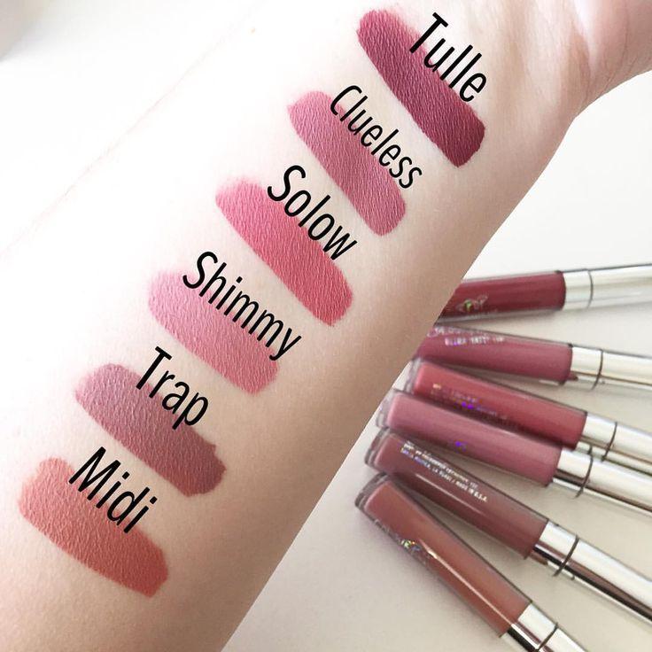 """Nicole on Instagram: """"Swatches of the #colourpop liquid lipsticks I picked up. #colourpopcosmetics #nicolesbeautybabble"""""""