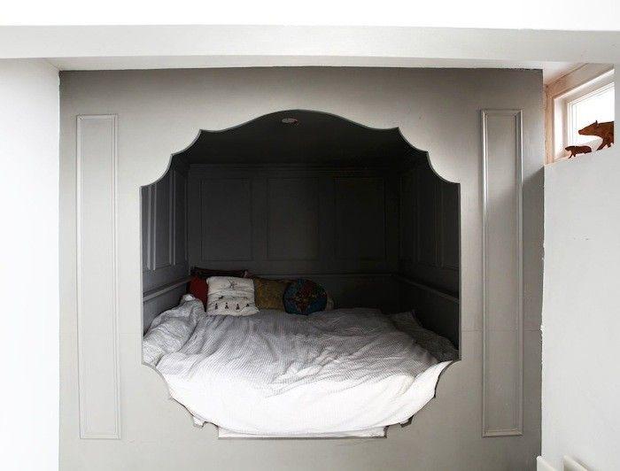 die besten 25 alkovenbett ideen auf pinterest schlafzimmer im zwischengeschoss bett mit. Black Bedroom Furniture Sets. Home Design Ideas