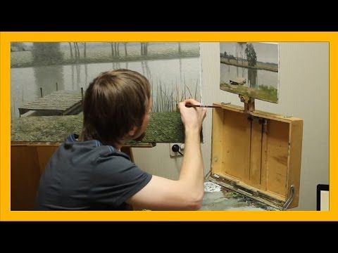 How an artist creates an oil painting (subtitles). Watch my works and lessons on www.daniil-belov.com