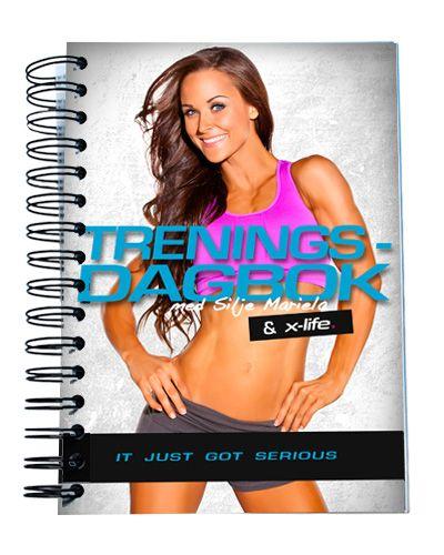 X-life sin egen treningsdagbok laget i samarbeid med Silje Mariela.  X-life har gratis frakt over kr. 500, gratis bytte / retur og rask levering hele året.