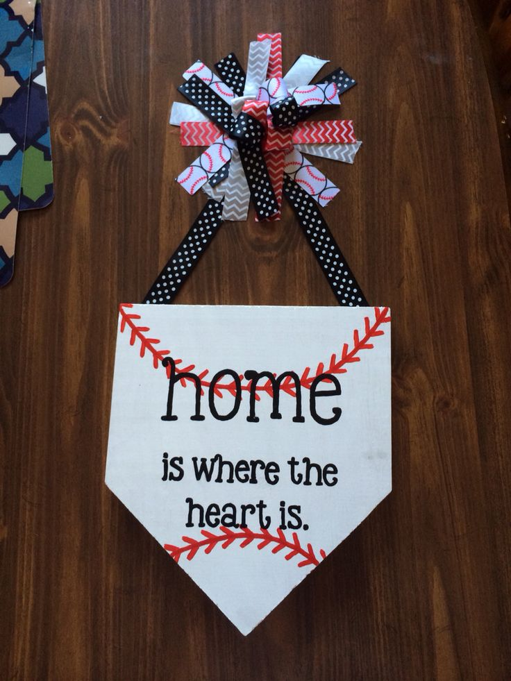 ⚾️ Baseball Theme Door Hanger Wooden Craft Ideas