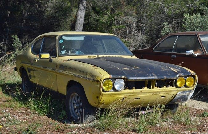 23 Pictures Of Rusty Muscle Cars That Are Tough To Stomach Muscle Cars Cars Ford Capri
