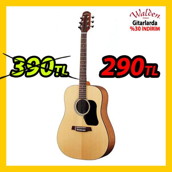 Bu gitar şu anda 390TL yerine 290TL (Havalede 275TL) Ve tabii solid gövdeli diğer tüm Walden gitarlarda indirimde  https://www.webmuzikmarket.com/Akustik-Gitarlar,LA_684-2.html#labels=684-2,846-3&stockOnly=0&type=catalog&searchalpha=&searchprice=asc&tp=