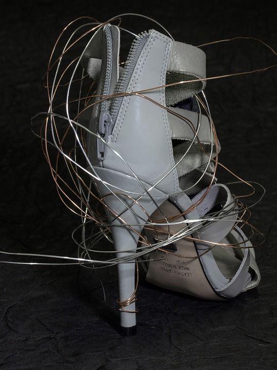 Чистка Обуви, Женская Обувь, На Высоких Каблуках Обуви