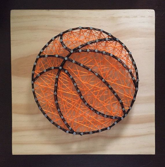 MADE TO ORDER Basketball String Art, Custom String Art, Basketball, Man Cave Decor