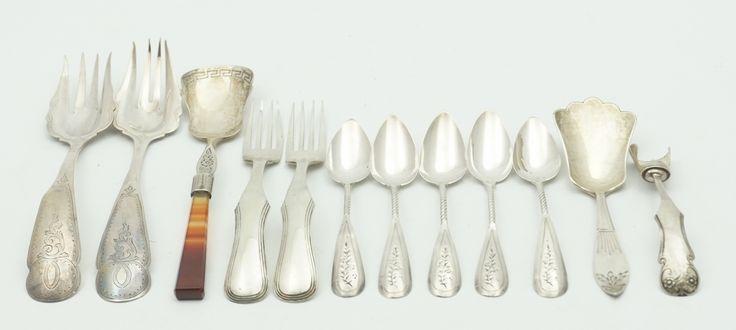 Een kavel diverse lepeltjes en vorkjes, Holland 19e eeuw