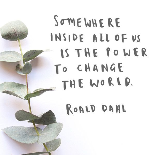 roald dahl quote - hand lettered typography motivational quote