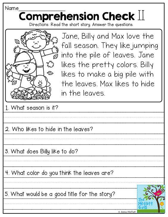 Comprehension Checks and so many more useful printables!
