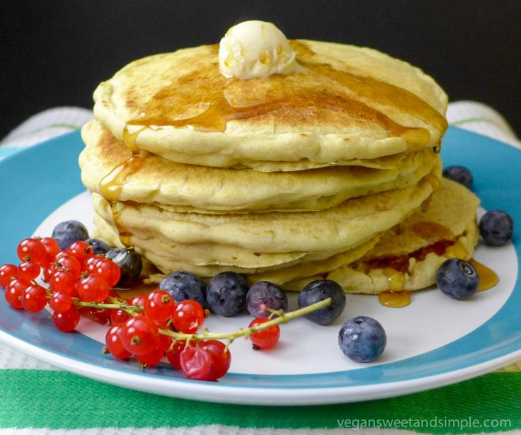 Perfect vegan and gluten-free pancakes