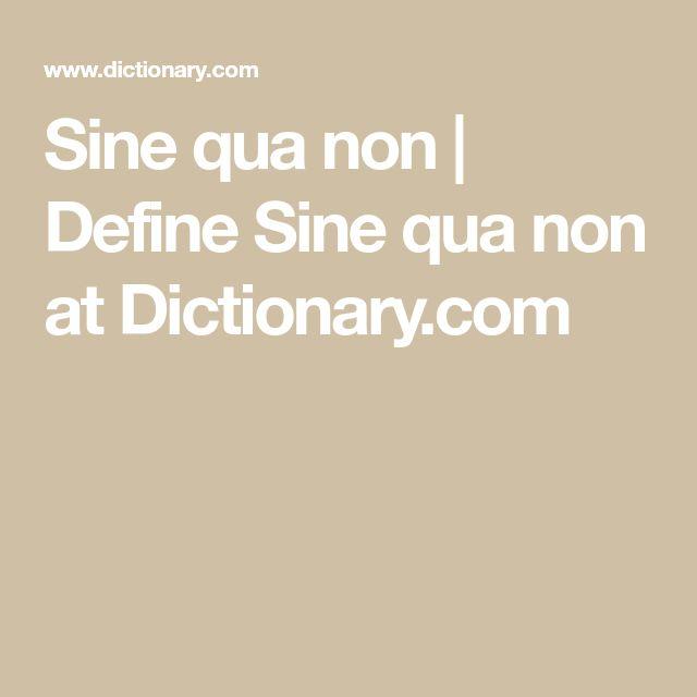 Sine qua non   Define Sine qua non at Dictionary.com