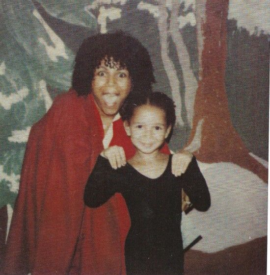 Minnie Riperton and daughter Maya Rudolph.