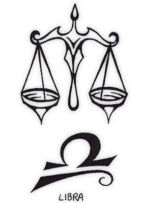 Tattoos Designs With Zodiac Especially Libra Tribal Tattoo Design 281x400 Pixel