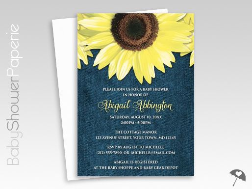 the 25+ best sunflower baby showers ideas on pinterest | sunflower, Baby shower invitations