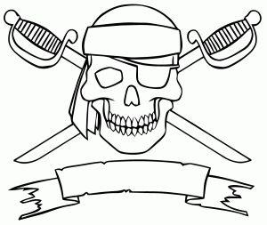 coloriage-drapeau-pirate