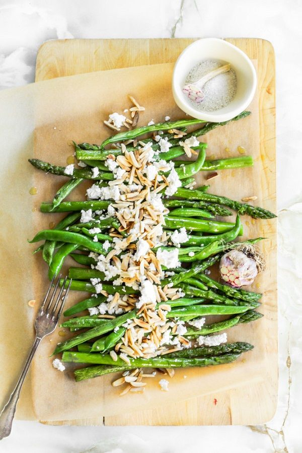 Warm Green Beans and Asparagus Salad | **Food and Drink** | Pinterest