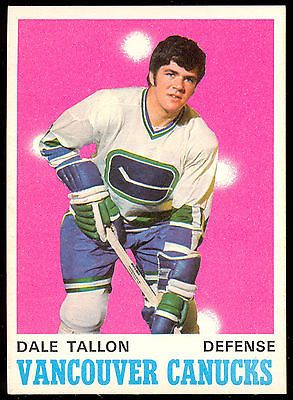 Dale Tallon - selected second overall by the Vancouver Canucks in the 1970 NHL Amateur Draft.