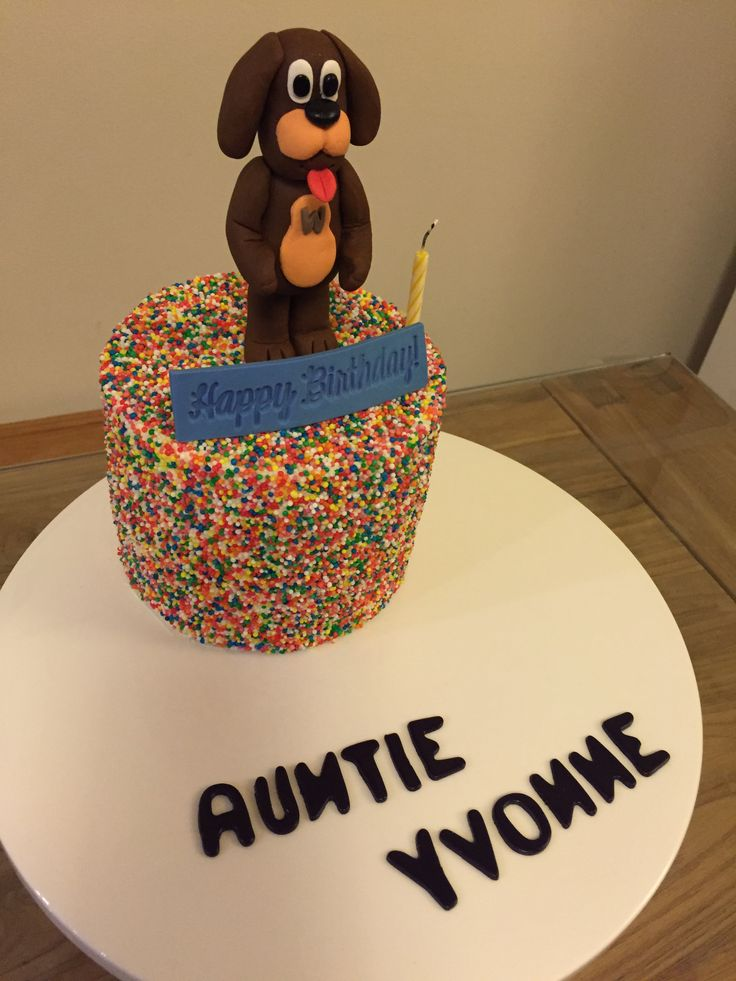 Wags the dog - wiggles sprinkle cake