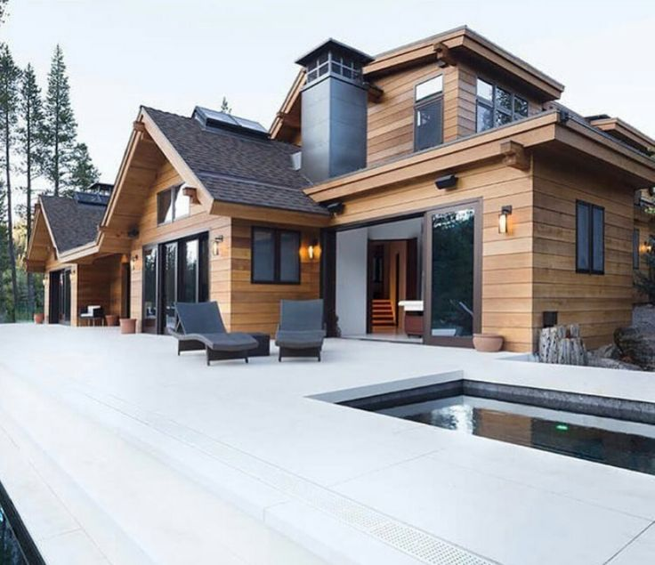 Modern House Exterior Materials: Best 25+ Modern Lodge Ideas On Pinterest