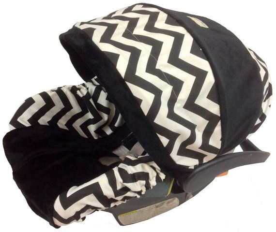 Black Chevron Boy Baby Seat Cover,  Baby Car Seat Cover with Matching Neck Strap Set on Etsy, $94.00