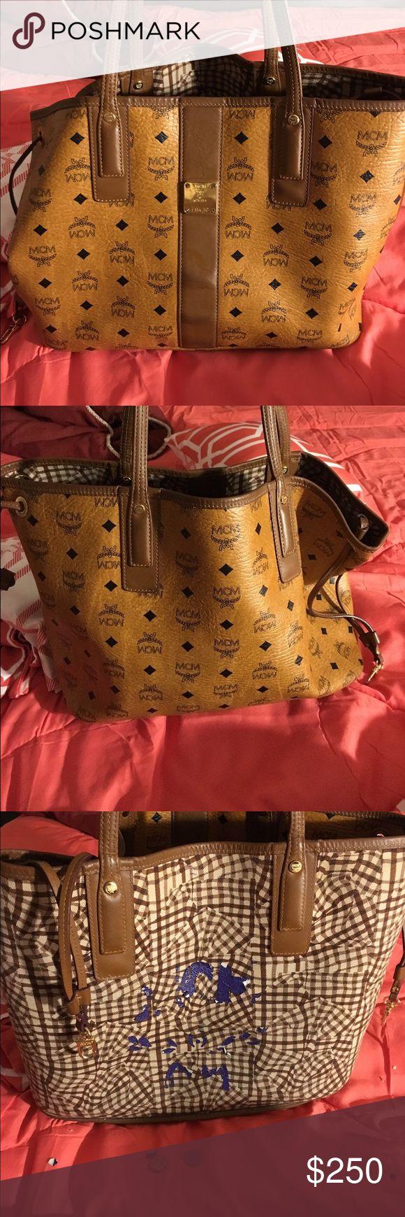 MCM USED BAG PRICE NEGOTIABLE MCM USED BAG PRICE NEGOTIABLE Bags Shoulder Bags
